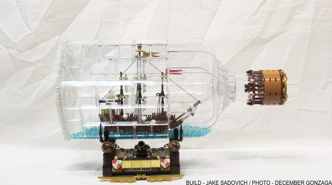 LEGO Ship in a Bottle Ideas Project