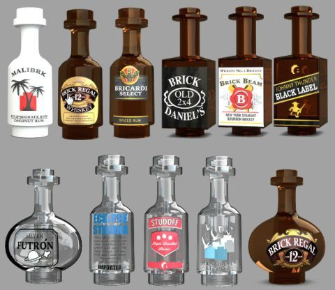Custom Lego Bottles And Food Items By Eclipsegrafx