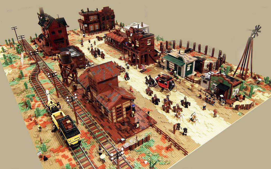 An Insane Wild West Diorama Bricktasticblog An