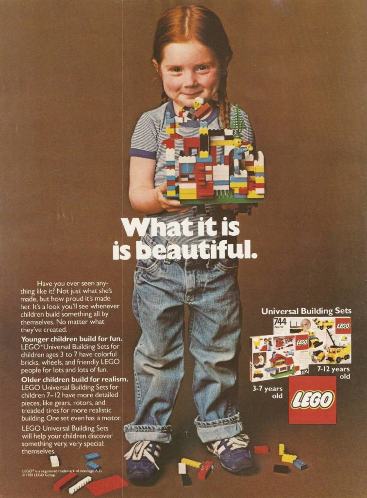 1981 LEGO Poster Beautiful Campaign