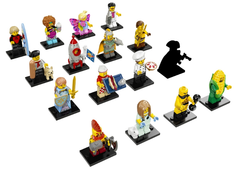 Collectable Minifigure Series 17 Individual layout
