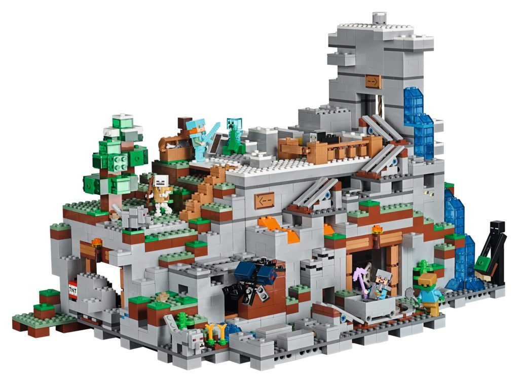 official announcement of lego minecraft 21137 the