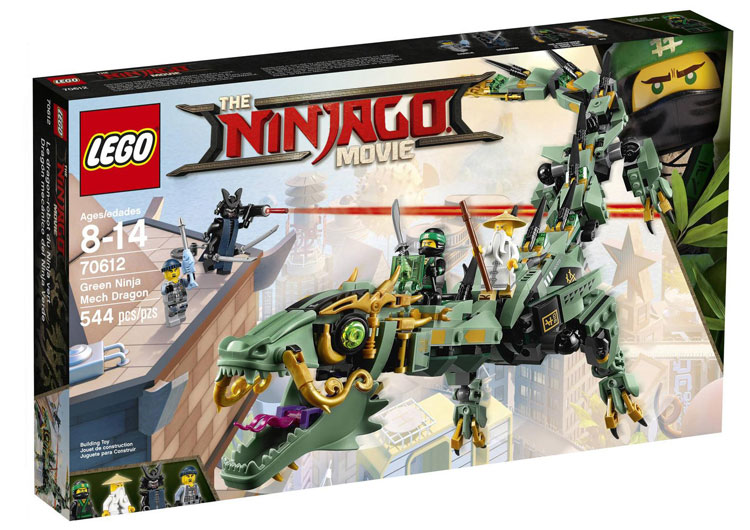 70612: Green Ninja Mech Dragon