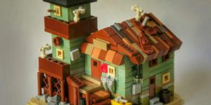 Microscale Old Fishing Store