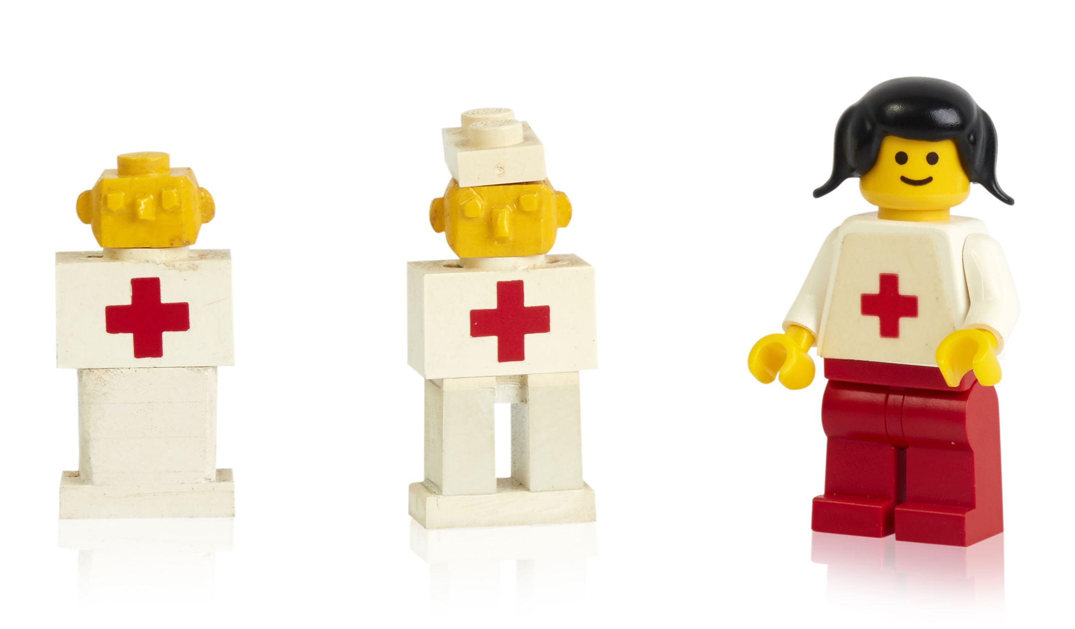 Early prototype minifigures
