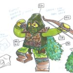 Alexandre Boudon Sketches - LEGO Forestman