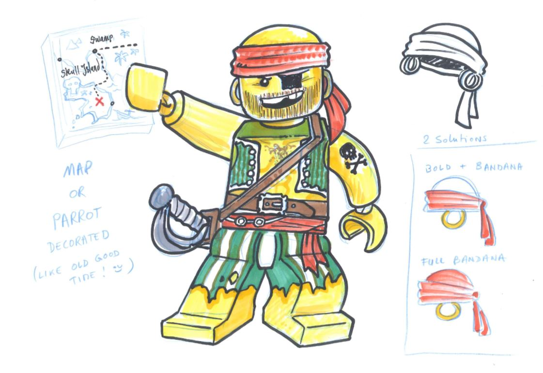 Alexandre Boudon Sketches - LEGO Pirate