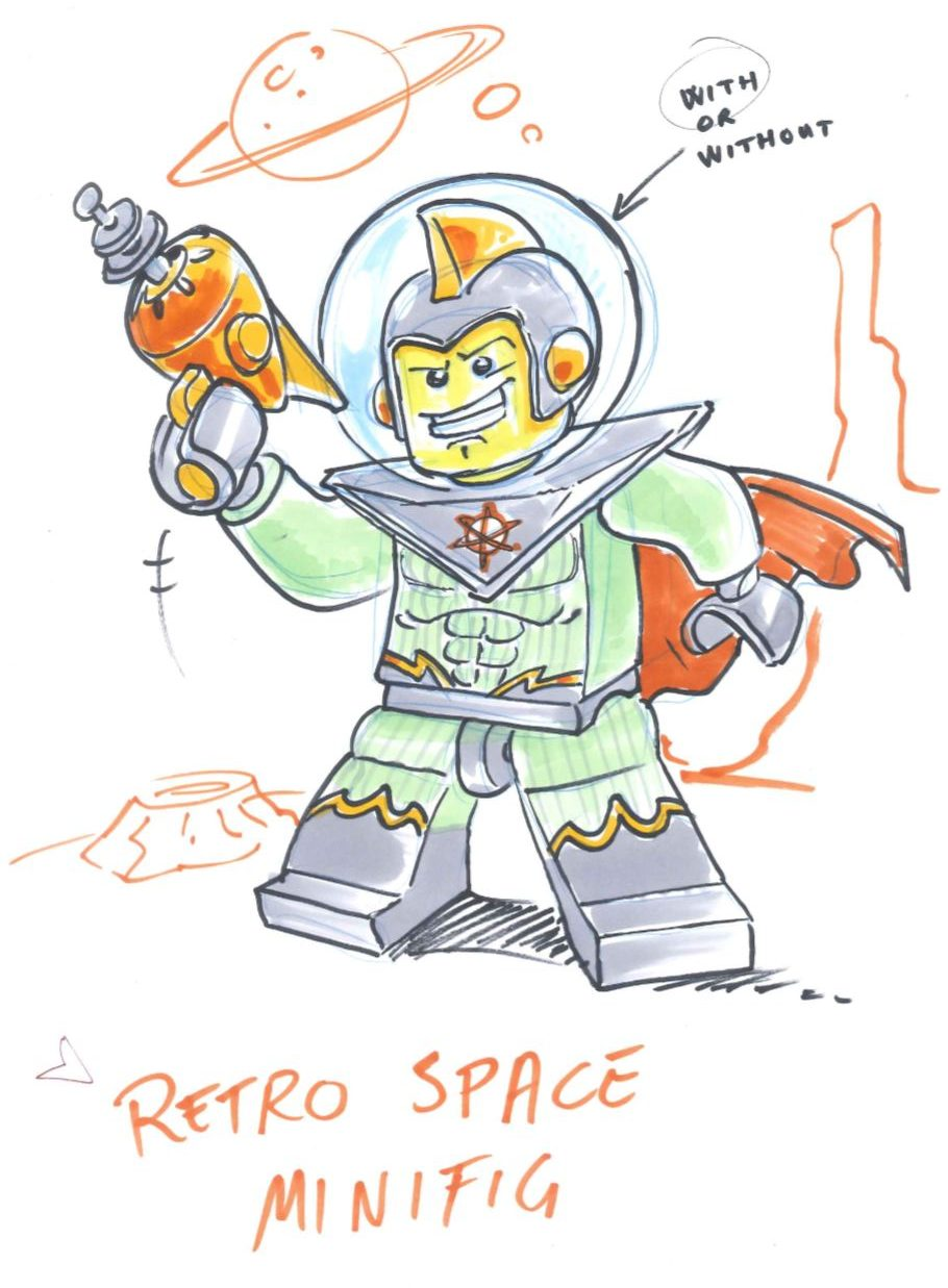 Alexandre Boudon Sketches - LEGO Spaceman