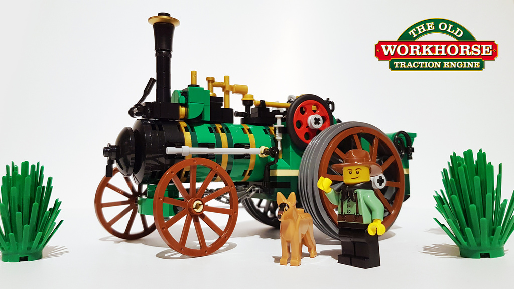 Traction Engine LEGO MOC