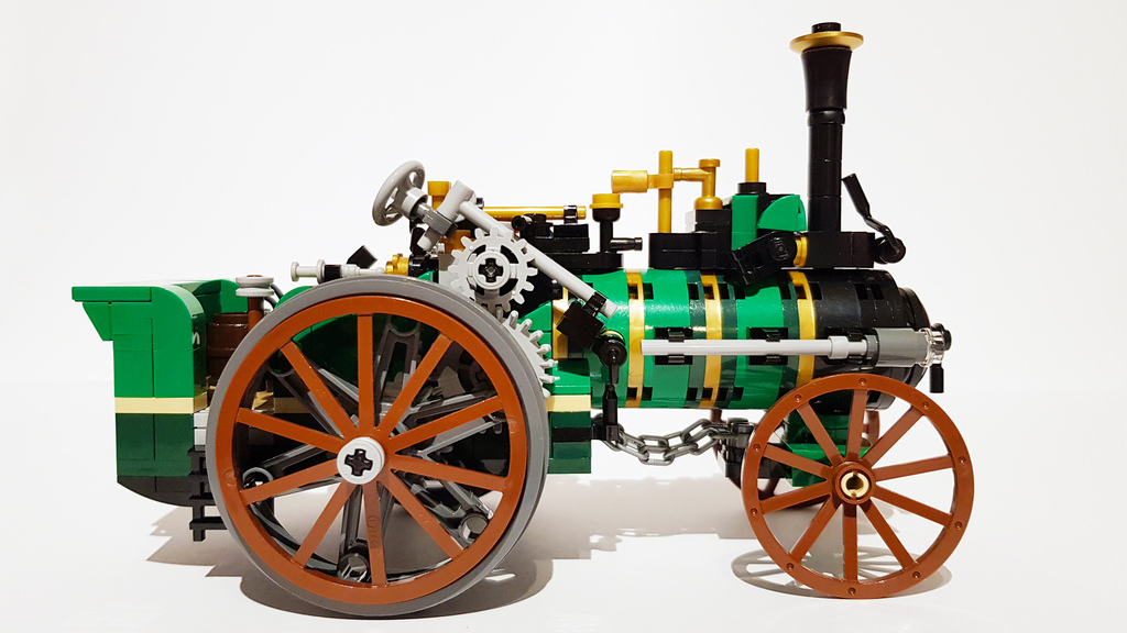 Traction Engine LEGO Ideas MOC