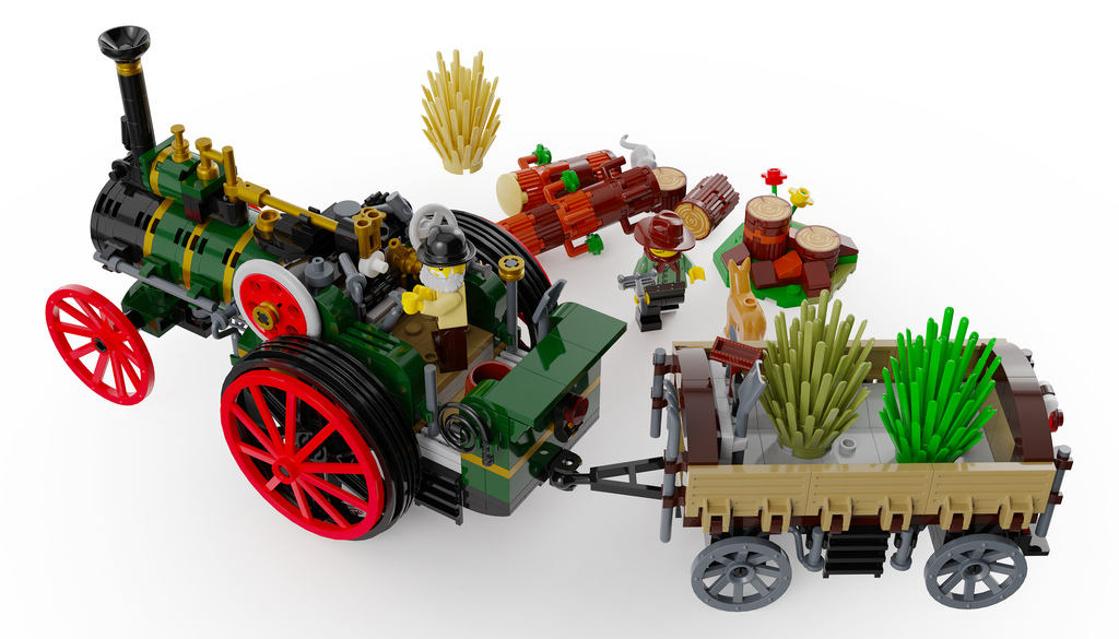 Traction Engine - LEGO Ideas MOC