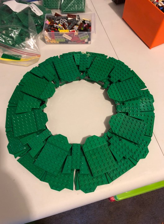 Christmas Wreath base layer