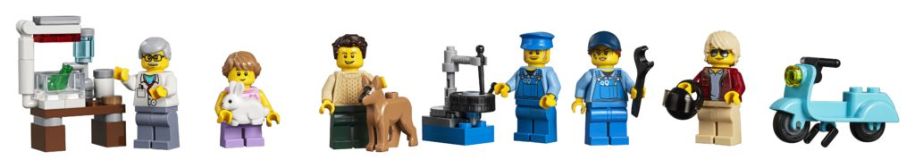 10264 Corner Garage Minifigures
