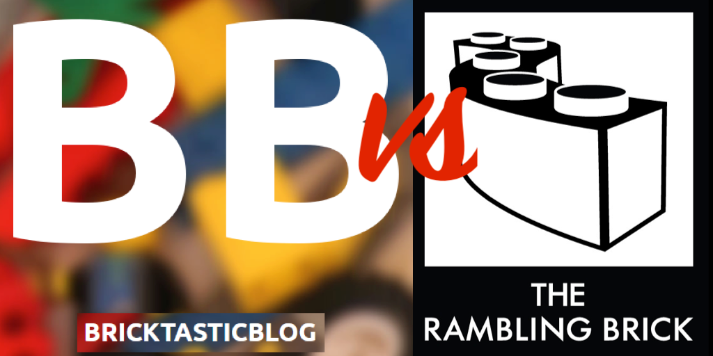 BricktasticBlog vs The Rambling Brick Speed Build Battle Logo