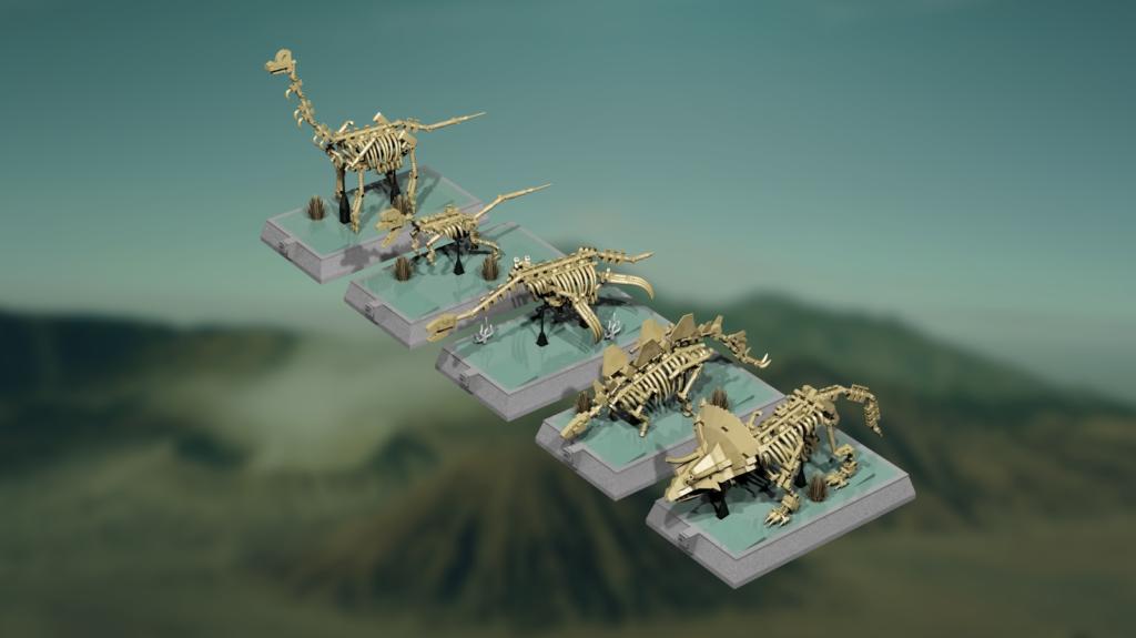 Dinosaurs Fossils Skeletons - Natural History Museum - Mukkinn