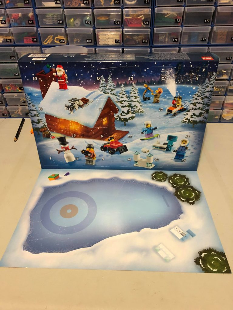 City Advent Calendar display mat